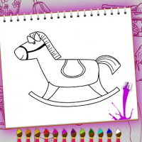Coloring Book: Toy Shop